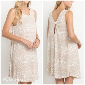 Dresses & Skirts - New Taupe Print Knotted Dress